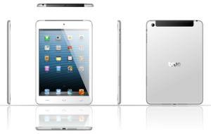 O Tablet PC Quad Core Mini-Pad 7,85pol, 3G Telefonema Mtk8389 1GB de RAM+8g ROM Android Market 4.2