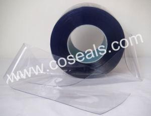 밝은 파란색 연약한 정전기 방지 PVC 플라스틱 지구 커튼