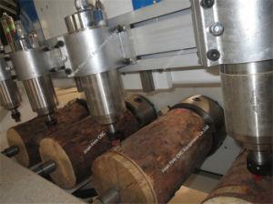 Grabado en madera rebajadora CNC para madera redonda para tallar