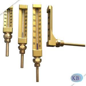 A utilização industrial de Vidro dourado V termómetro em forma de linha
