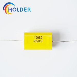 Axial tipo plano Cbb20 106J/250V de Condensador de película de polipropileno metalizada