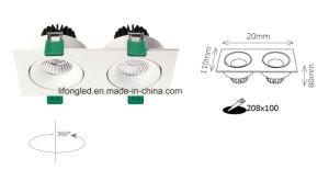 Luz de teto dobro Downlight do diodo emissor de luz da cabeça 2*9W