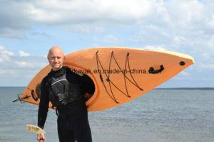 3,44 mètres Wood-Grain plastique seul s'asseoir dans les tournées Kayak
