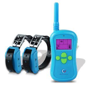 Los collares de adiestramiento de perros a distancia sumergible y recargable con cuatro funciones de localización de rango estático de vibración de tono Collar los collares de choque Trainer 2azul