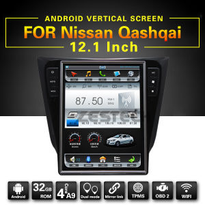 12.1 pulgadas Android alquiler de DVD GPS para el Nissan Qashqai