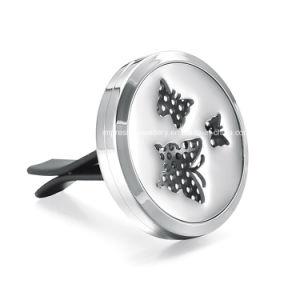Coche de la mariposa de acero inoxidable Clip ventilación DIFUSOR de ACEITES ESENCIALES medallón