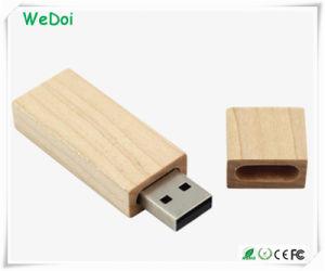 Дешевые рекламных деревянной ручкой USB накопитель с 1 года гарантии (WY-W22)