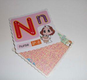 Etiqueta de papel personalizados etiquetas Cute Tarjeta de papel Tarjetas Educaction Postercard