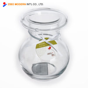 Venda por grosso de vidro de mesa pequeno clara barata vasos de flores casamento