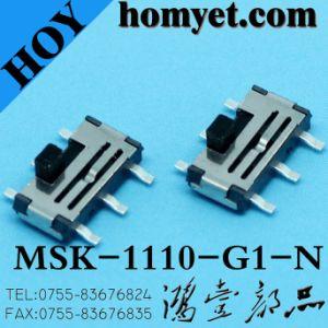 De tipo vertical de 6 clavijas SMD Deslice el interruptor para productos digitales (MSK-1110-G15-N)