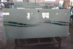 10mm Frameless porte en verre trempé Opaque dépoli /salle de bains Le verre trempé avec l'encoche/ découpe/logement/rainure/perçage de trous