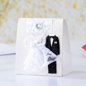 Boîte de faveurs de mariage et de cadeaux fashion robe de mariée et le Marié costume mariage Boîtes Boîte cases faveur