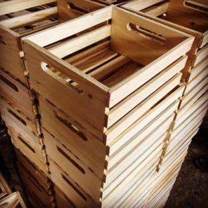 La cassa di legno a stecche antica francese ha catturato il Governo