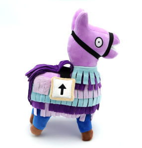 Alpaca Fortnite juego de Anime Cosplay Cojín de juguete de peluche suave Peluche de regalo