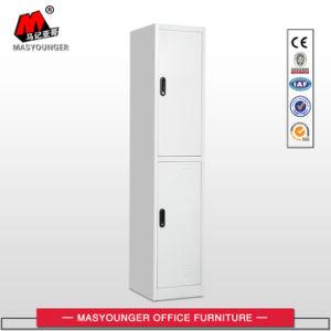Kaltgewalzte StahlCommecial Metallspeicher-Schrank-Garderoben-Eisen-einzelne Zeile 2 Tür-Schließfach