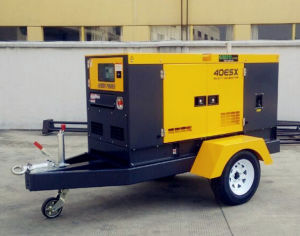 30kw het stille Water koelde Mobiele Diesel van de Aanhangwagen Generator In drie stadia