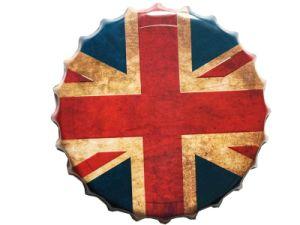 イギリス様式の金属は装飾のための装飾的なビンの王冠のクラフトに署名する