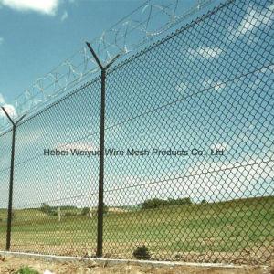 Rete fissa del metallo del tessuto di collegamento Chain della barriera di sicurezza aeroporto/del giardino
