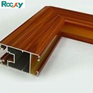 La decoración de la superficie del grano de madera perfil de aluminio para Ventana deslizante