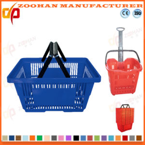 Supermercado plástico novo cesto de compras (Zhb1)
