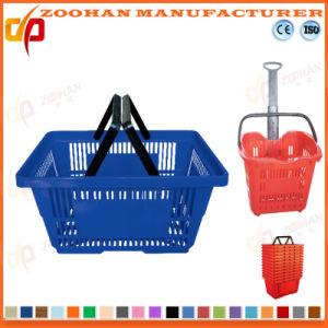 Nieuwe Plastic het Winkelen van de supermarkt Mand (Zhb1)