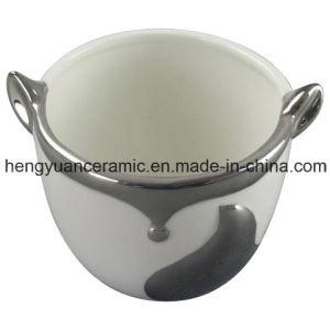 Фокс Electroplating формы керамические Flower Pot мебель для дома