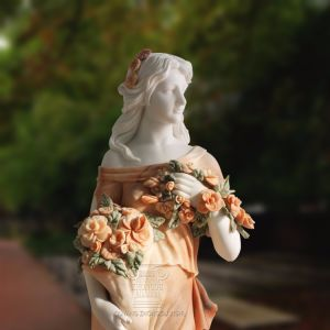 Beeldhouwwerk Van de vier seizoenen van de Standbeelden van de Decoratie van de steen het Snijdende Veelkleurige Marmeren