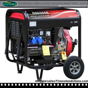 5Kw 188fa generador diesel de dos ruedas y de bastidor abierto (DG7000E-B).