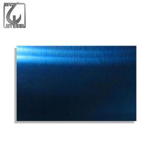 Strato decorativo di superficie blu dell'acciaio inossidabile del piatto dei monili 304