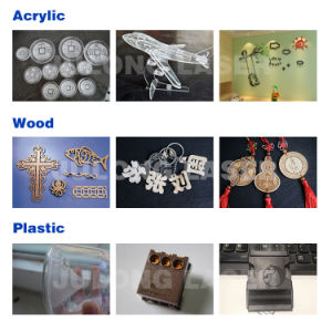 Buch-Markierungs-hölzerne Ausschnitt-Maschine CO2 Laser-Maschine mit besten Ersatzteilen