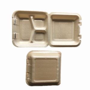 トウモロコシ澱粉のテークアウトのファースト・フードのクラムシェルのお弁当箱の収納箱
