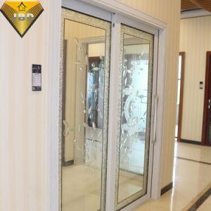 Portello di alluminio (doppio vetro) con 2 comitati scorrevoli