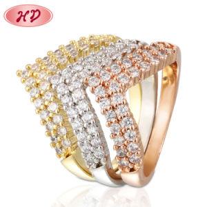 2020 Boda de alta calidad de joyas de oro 24K color oro anillos de diseño de moda el encanto de regalo para mujer