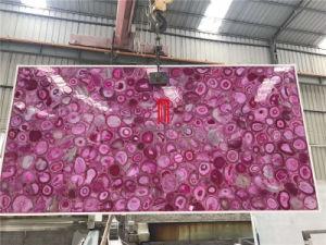 Gemstone luxe Backlic Pierre Agate Rose translucide pour le design intérieur