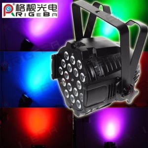 Etapa parte discoteca PAR 64 18 LED 10W RGBWA+UV 6en1 Foco LED de alta potencia de luz PAR