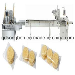 De Machine van de Verpakking van koekjes met het Auto Opruimen en Voeder