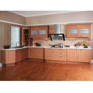 Armário de cozinha de madeira Oppein Enrolado Design de acabamento em acrílico de PVC (PO12-X118)