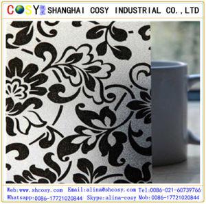 1.22*5om personnalisé imprimé à chaud des emballages souples en PVC avec un bon film autocollant de la fenêtre