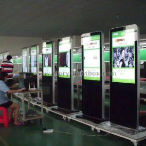 Fußboden, der LCD-Anzeigen-Spieler/stehen, DigitalSignage 3G/WiFi erhältlich