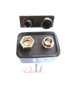 Alkalische trockene Batterie 6lr61 9V mit Plastikschutzkappe