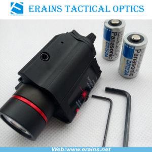 Vista tattica del laser di colore rosso e 200 combinati chiari del CREE Q5 LED di lumen con il laser dello stroboscopio