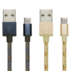Alta calidad de trenzado Nylon Micro USB Cargador rápido Rápido Cable USB al cable de carga micro USB 2.0 para Android Teléfono móvil