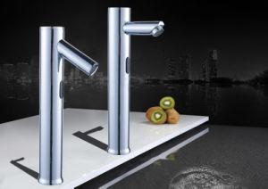 洗面器のめっきされる自動コックのクロム(FDS-6018)
