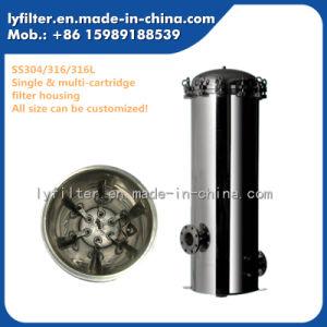 Industrial 304 316 en acier inoxydable 316L Logement du filtre à cartouche avec 10'' 20'' 30'' 40'' Longueur