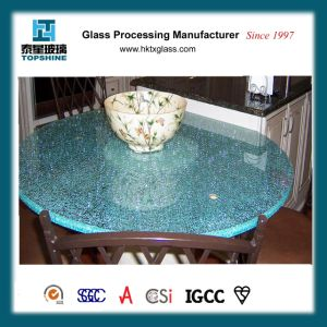 Piano d'appoggio di vetro Cracked del ghiaccio di disegno di Morden per il tavolino da salotto