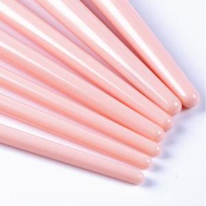 Venda a quente Virola oblíqua 7PCS espelho cosmético Ajuste da escova com pêlos sintéticos