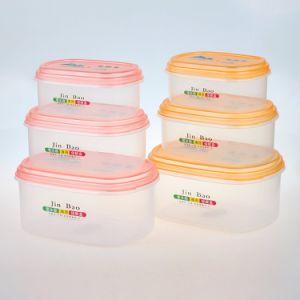 Melhor qualidade de comida de plástico transparente com tampa do recipiente por grosso