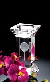 Portavelas de cristal (ALF8019) Regalos de Cristal portavelas de vidrio cristal de 3D de la artesanía