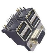 D-SUB Stapel-Verbinder D-SUB H.D 15s/USB ein Typ