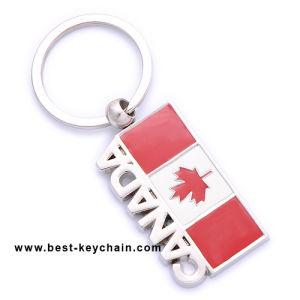 Fördernde kundenspezifische Andenken-Metallmarkierungsfahnen-Kanada-Schlüsselkette (BK10694)